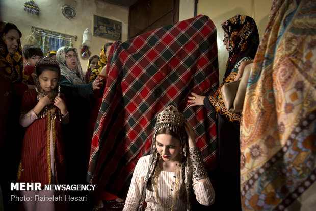 A traditional Turkmen wedding ceremony in Golestan