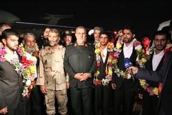 عودة خمسة من حرس حدود ايران المخطوفين إلى ايران