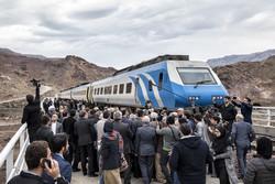 قزوین سے رشت تک  ریل گاڑی کا آزمائشی افتتاح