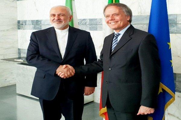 Iranian, Italian FMs hold meeting in Rome