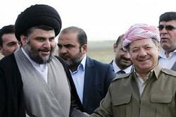 مسعود بارزانی و مقتدی صدر دیدار کردند/ تأکید بر اعتمادسازی و کنار گذاشتن اختلافات