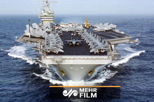 فلم/ خلیج فارس میں امریکی کشتی کے اہلکاروں کی ایرانی سپاہ سے فارسی میں گفتگو