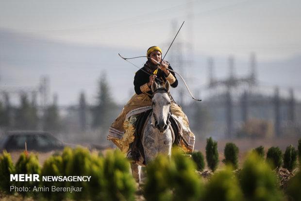 Intl. horseback archery championship in Shiraz