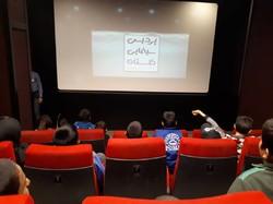 کودکان کار به دیدن انیمیشن کودک نشستند