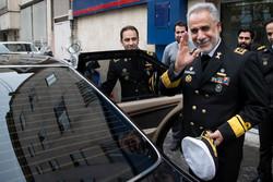 ایرانی بحریہ کے نائب سربراہ کا مہر نیوز ایجنسی کا دورہ
