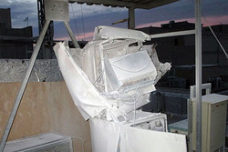 انفجار دکل ایرانسل در شهریار به پشت بام یک منزل آسیب زد
