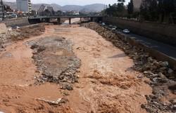 جاری شدن رودخانه خشک شیراز