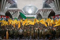 تہران میں بسیجی کمانڈروں کا شاندار اجتماع