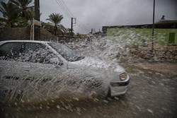 بارش باران در شهرستان جم استان بوشهر