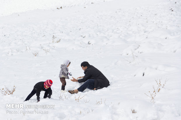 Snowfall bestows extreme happiness to people in Chaharmahal and Bakhtiari prov.