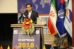 Iran's Ports and Maritime Organization Head Mohammad Rastad speaking in the inaugural ceremony of Iran's 13rd Biennial International Conference on Coasts, Ports and Marine Structures (ICOPMAS 2018) held in Tehran on Monday