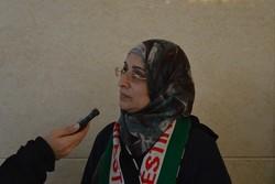 رزان النجار الشهيدة الحاضرة في مؤتمر الوحدة الإسلامية