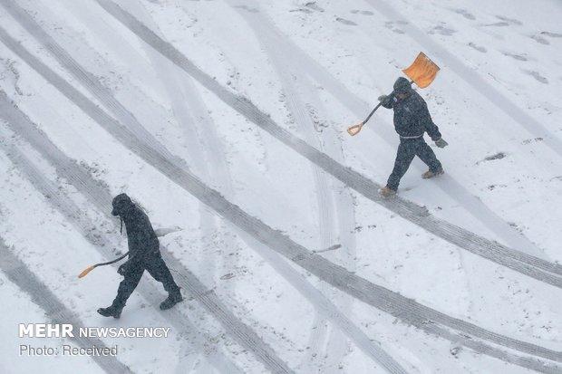 بارش سنگین برف در آمریکا