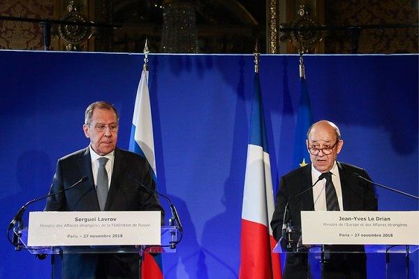 لودریان: حل چالشهای مهم بین المللی بدون مشارکت روسیه غیر ممکن است