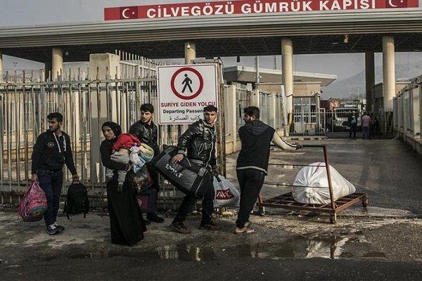 چهار هزار پناهجوی سوری از ترکیه به خانههای خود بازگشتند