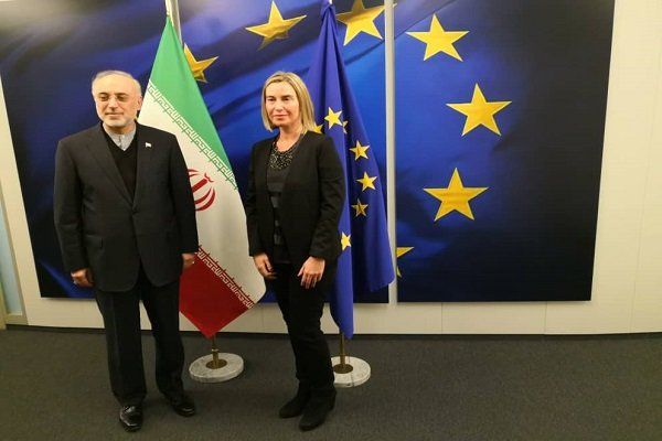 Salehi warns EU's Mogherini Iran's patience is running out