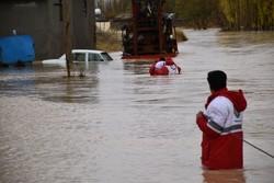 پوشش خدماتی ۲۰۳۸نفر در بارندگی های اخیر استان/فعالیت ۲۶ تیم امداد