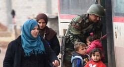 Tens of displaced families arrive in Abu al-Dohor crossing in Idlib