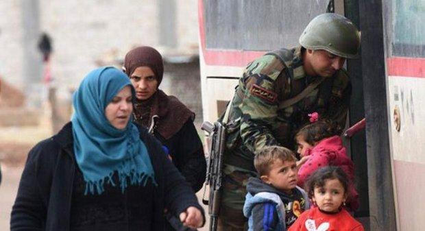 Tens of displaced families arrive in Abu al-Dohor crossing in Idlib