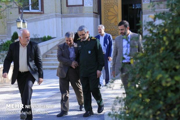 دیدار رئیس سازمان بسیج مستضعفین با مراجع قم