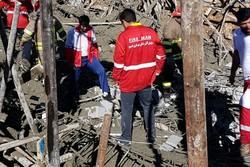 نجات جان دو نفر از زیر آوار در یاسوج/پوشش عملیاتی در ۳ دقیقه