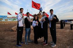 حضور مدال آوران بازیهای آسیایی در مناطق راهیان نور جنوب