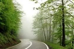مهگرفتگی در محور اسالم به خلخال/ رانندگان احتیاط کنند