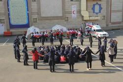 مانور «زنگ زلزله» در مدارس جنوب تهران اجرا شد