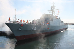 Iran's most advanced destroyer 'Sahand' arrives in Gulf of Aden