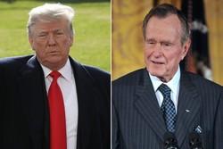 صدر ٹرمپ کا سابق صدر جارج بش سینئر کی آخری رسومات میں شرکت کا اعلان