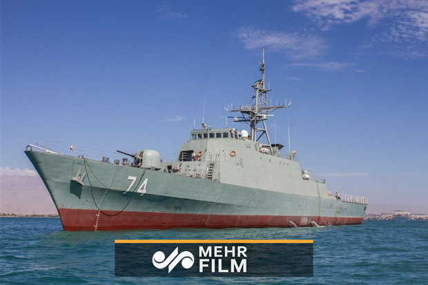 VIDEO: 'Sahand' destroyer hits Iran's southern waters