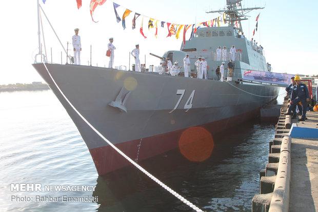 قدرت وسیاست کشور از طریق نیروی دریایی ارتش به نمایش گذاشته می شود