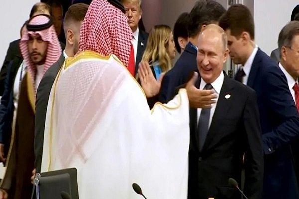 دست دادن جنجالی پوتین و بن سلمان در جی بیست