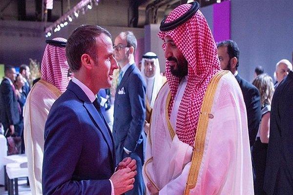 میکرون اور محمد بن سلمان کی ملاقات
