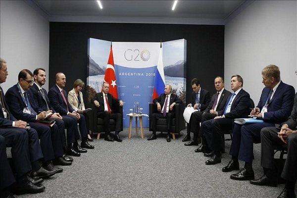 پوتین: به همکاری با ترکیه در زمینههای متعدد ادامه میدهیم