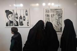 نمایشگاه گروهی نقاشی «طراحی و سیاه قلم» در قزوین برپا شد