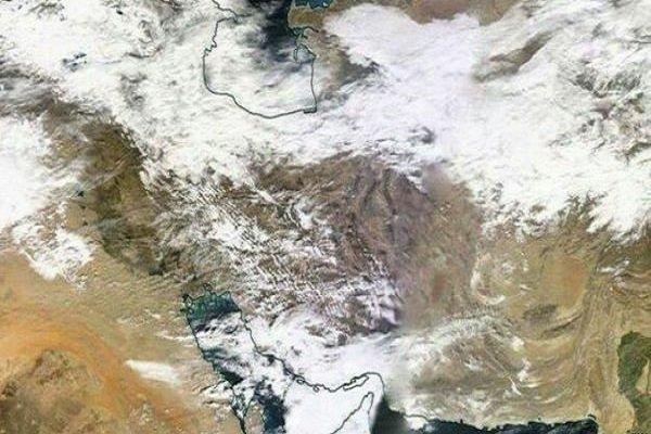 رصد پوشش برف در کشور با تصاویر ماهوارهای