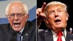 Bernie Sanders's hammer on the Trump's head
