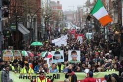 ایرلندی ها در مرز ایرلند شمالی دست به تظاهرات زدند
