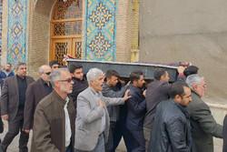 مبارز انقلابی در جوار امامزاده حسین قزوین آرام گرفت