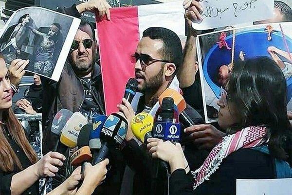 وقفة احتجاجية في بيروت للمطالبة بانهاء العدوان على اليمن