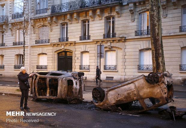 خسارات اعتراضات پاریس