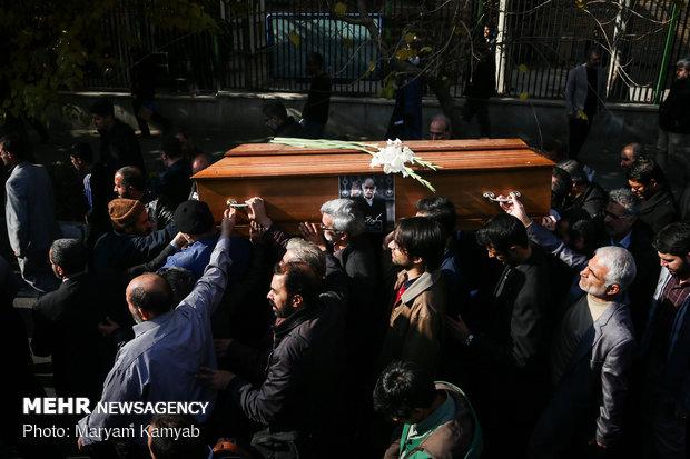 مراسم تشییع پیکر مرحوم زرویی نصرآباد