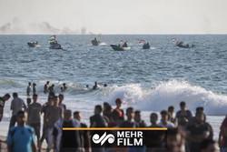 فلم/ اسرائیلی فوج کی پرامن فلسطینی مظاہرین پر فائرنگ