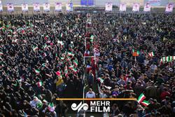 فلم/ ایرانی صدر کا شاہرود میں شاندار استقبال