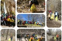 پاکسازی منطقه طبیعت گردی دشتک  و مسیر حصار در فارس