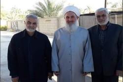 عراق میں اہلسنت مفتی سے جنرل قاسم سلیمانی کی ملاقات