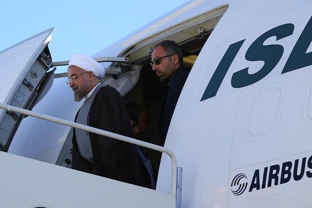 Cumhurbaşkanı Ruhani memleketine gitti