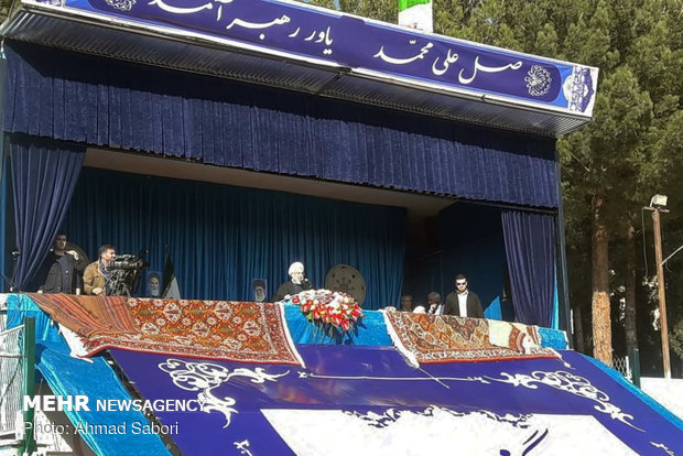 Rouhani addressing people of Shahroud