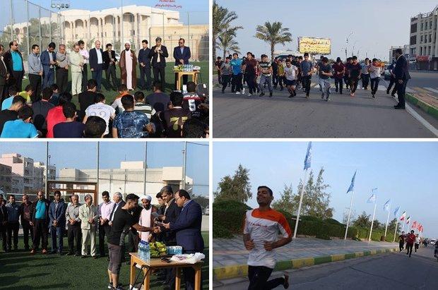 مسابقه دو صحرانوردی دانشجومعلمان در ساحل بوشهر برگزار شد